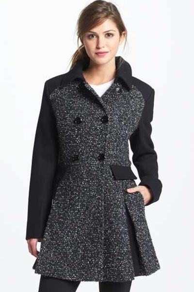 Приталенное пальто букле