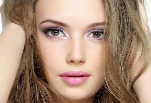 Дневной макияж для зелёных глаз