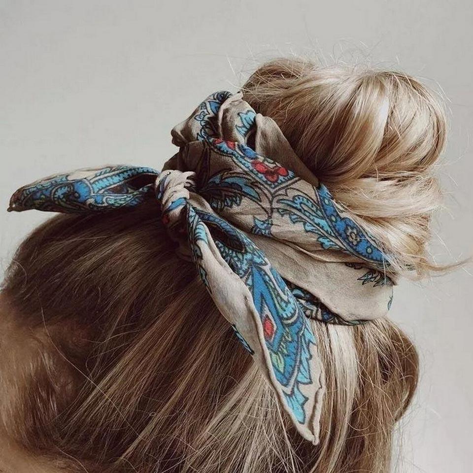 Повязка на объемный пучок волос