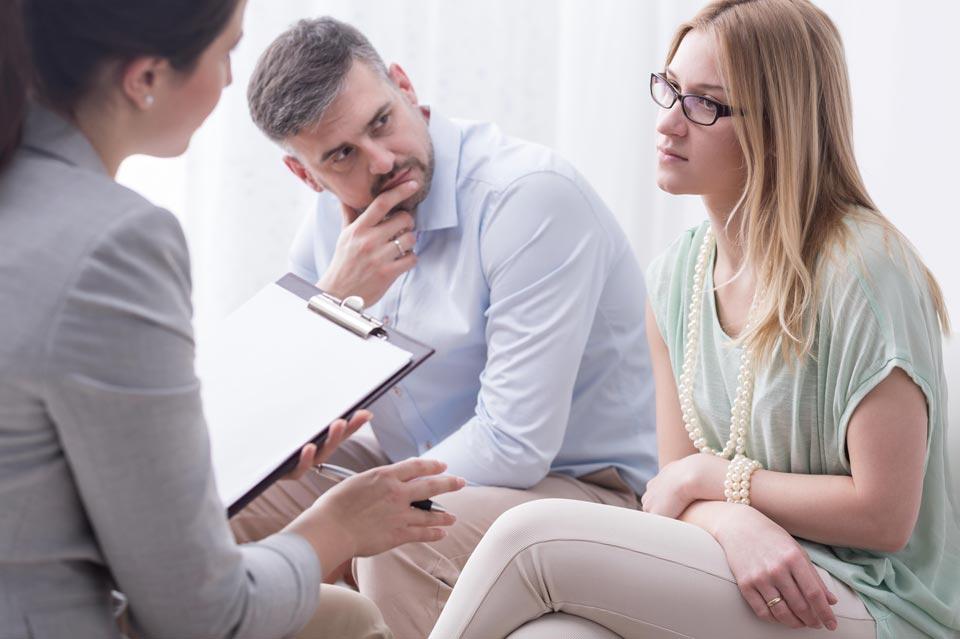 Супруги на приёме у психолога