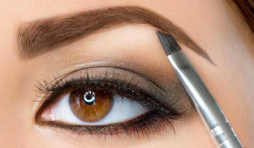 Как красить брови воском и тенями